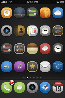 Touchit 4.2 iPhone Theme dark