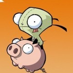 iPhone wallpaper drawn-gir-piggy