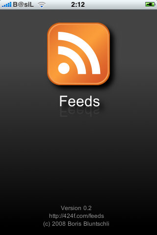 Feeds native RSS Goggle reader iPhoneHellas
