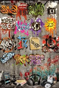 graffiti iphone theme