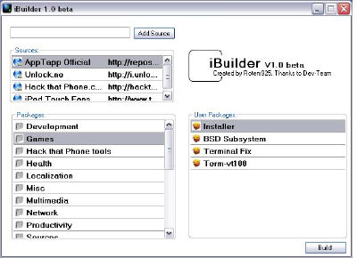 ibuilder: create your own iPhone Firmware