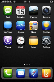 Illuminous iPhone Theme