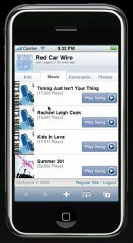 iPhone MySpace.com