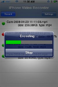 iphone video recorder encoding
