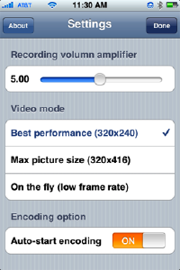 iphone video recorder settings
