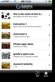moleskine databinge icons menu