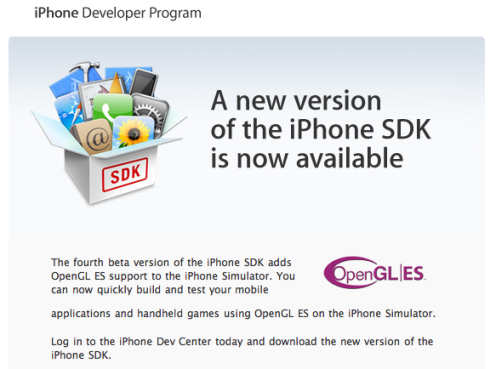 iphone sdk beta 4
