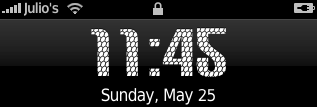 carbon iPhone\'s clock font