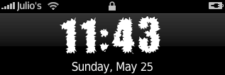 Decade iPhone\'s clock font