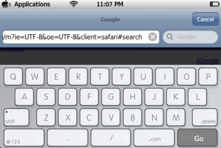 iPhone keyboard macbook style