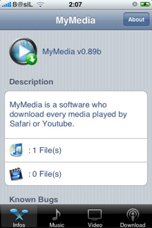 MyMedia iPhone downloader extension for Safari & Youtube 9