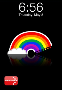 rainbow iPhone Baterry Images Customize