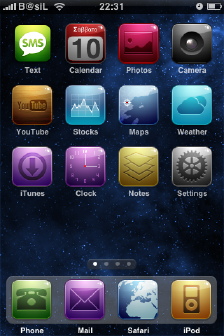 Spacecamtessa iPhone Theme
