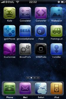 Spacecamtessa iPhone Theme 2