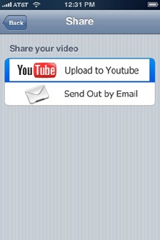 iPhone video recorder YouTube