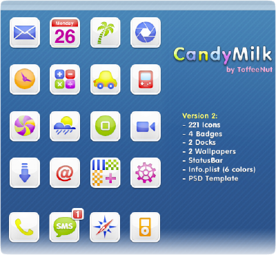 candymilk iphone theme by toffeenut
