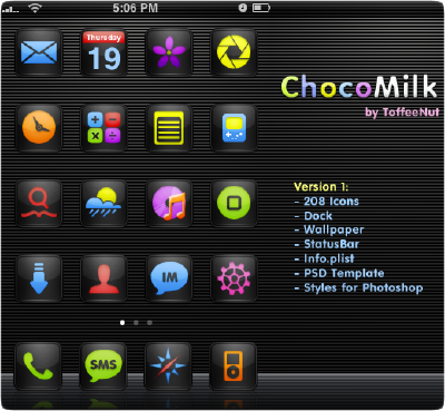 chocomilk iphone theme by toffeenut
