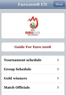 euro2008 iPhone menu
