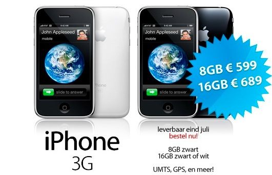 iphone 3g price NL