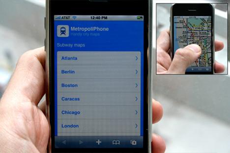 MetropoliPhone iPhone web app