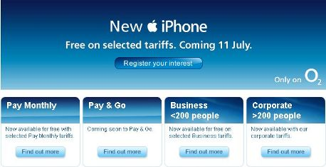 O2 iPhone 3G pay as you go