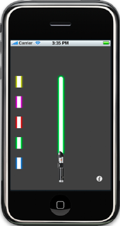 PhoneSaber iPhone lightsaber