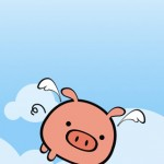 iPhone wallpaper flying pig