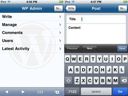 wphone wordpress iPhone