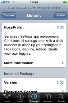 BossPrefs Cydia iPhone OS 2.0