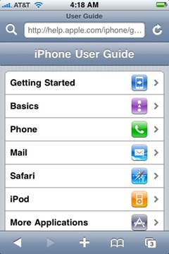 iPhone: Help & User Guide site