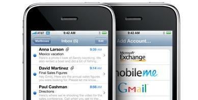 Push Mail iPhone free Mobile Me