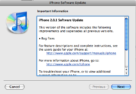 iPhone Firmware v2.0.1