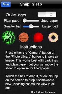Snap'n Tap iPhone