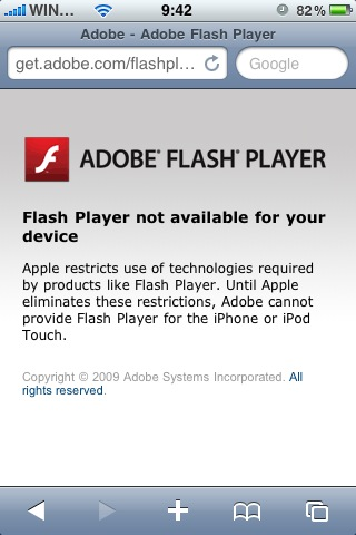 Adobe Blames Apple