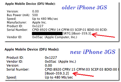 iPhone 3GS bootrom version