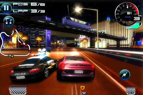 Asphalt 5 iPhone racing game