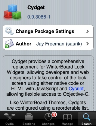 Cydget iPhone framework for lockscreen widgets