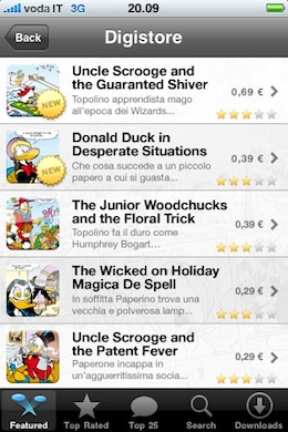 Digicomics- Walt Disney comic books on your iPhone 4
