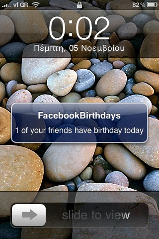 FacebookBirthdays iPhone.app