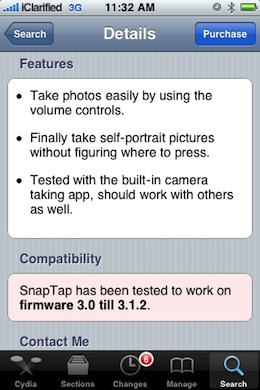 SnapTap Take Pictures Using Volume Controls