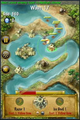7 Cities Tower Defence iPhone game