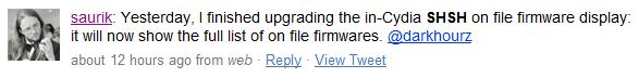 Saurik updates Cydia to display all SHSH Files on File
