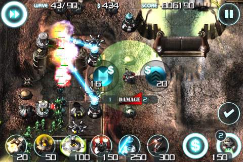 Sentinel Tower defense iPhone game