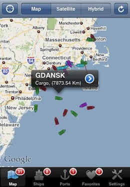 Ship Tracking iPhone
