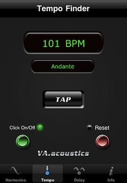 VAacoustics iPhone Tempo