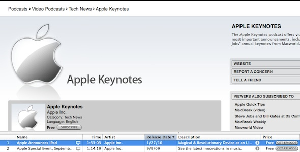 Apple iPad Keynote Video