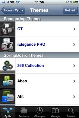 Featured Themes Cydia