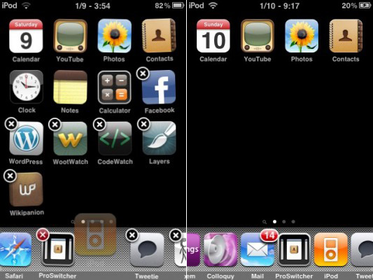 Infinidock iPhone Cydia