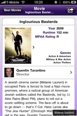 MovieDNA Appstore iPhone