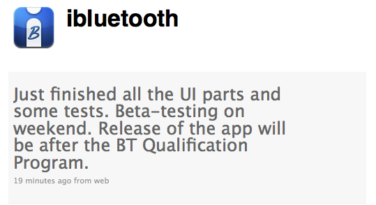 iBluetooth Update